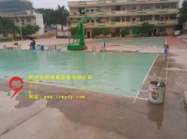 广西梧州市岑溪硅PU羽毛球场初步施工  工程案例