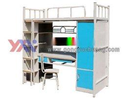 太原专业定做学生带书桌上下床厂家  学生宿舍上下床尺寸