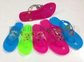 揭阳厂家供应女款新款水晶拖鞋