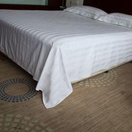 酒店宾馆床上用品,全棉加密缎条床单,酒店宾馆桑拿会所床单床笠