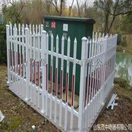 变压器围栏 塑钢PVC电力箱变护栏配电室护栏