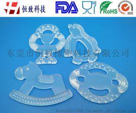 4款一套液态硅胶婴幼儿磨牙牙胶 硅胶透明婴幼儿牙胶