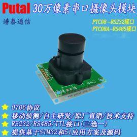 供应PTC08 RS232接口,串口摄像头模块