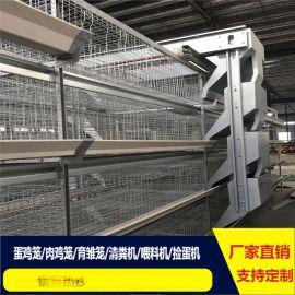 陕西鸡笼厂全自动蛋鸡笼出口层叠鸡笼