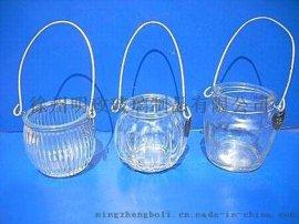 明政玻璃制品 定做各种 蜡烛罐 蜡烛杯 玻璃烛台