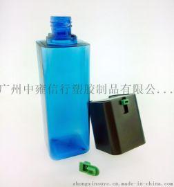 120ml男士水乳塑料瓶 乳液瓶 润肤瓶 方形塑料瓶 化妆品包材