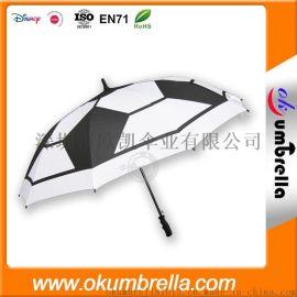 厂家直销 足球伞 超大10骨全纤维高尔夫伞 可印logo