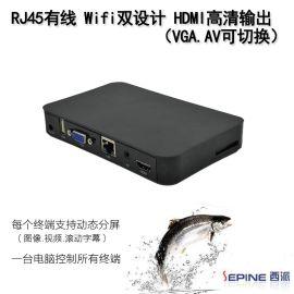 高清网络广告机网络广告盒媒体播放盒HDMI车载广告机播放器NET999