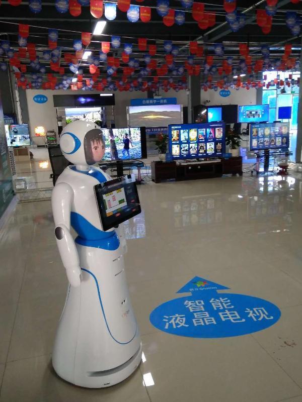 爱丽丝多功能商业迎宾机器人用于银行酒店**机场科技展览馆大堂