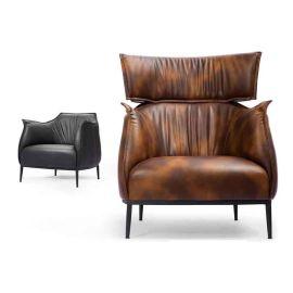 休閒真皮辦公沙發 單人沙發椅  時尚商務沙發圖片