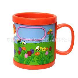 pvc软胶卡通滴塑绿色植物花草元素马克杯套