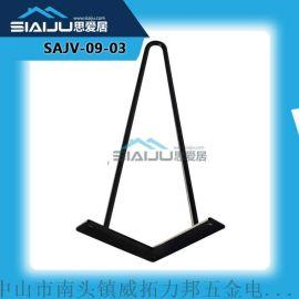 厂家直销桌架餐台脚底座 铸铁餐饮餐桌脚架桌脚支架圆柱不锈钢