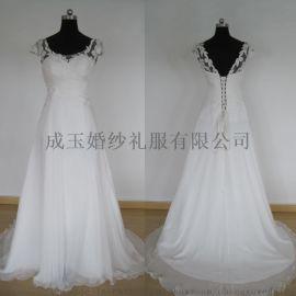 孔雀公主HCWD-019 外贸原单婚纱显瘦优雅有飘带