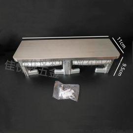 不锈钢+ABS不锈钢双卷纸架佳悦鑫jyx-210