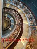 青海铝合金护栏别墅金色楼梯立柱实图大图