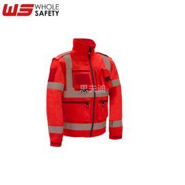 高可視阻燃防靜電夾克 耐磨熒光阻燃服 定制 示應急救援服