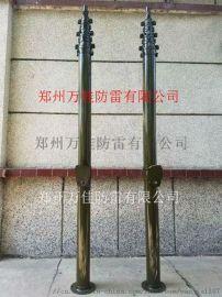 野外14米手动升降避雷针,便携式10米升降杆避雷针
