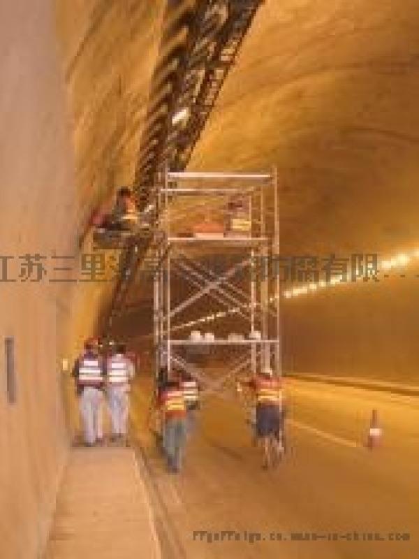 照明地下通道滲漏堵漏施工作業