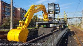 轨道移动式电动液压挖煤机械工作臂带挖斗