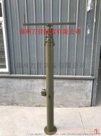 通信天线升降杆,18米移动式车载变电站升降避雷针
