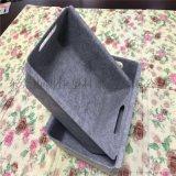 定制两边带孔收纳盒毛毡制品冷压毛毡收纳盒