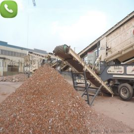 轮胎式移动石料破碎机 鄂式破碎机 碎石机生产线价格