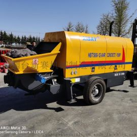 大骨料混凝土输送泵 60柴油混凝土泵 柴油拖泵地泵