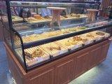 广州方形抽屉式面包中岛展示柜