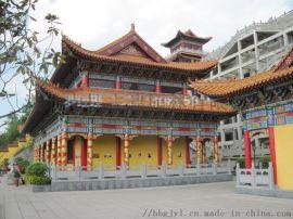 廣東古建寺廟設計,寺院效果圖,廣東寺廟施工