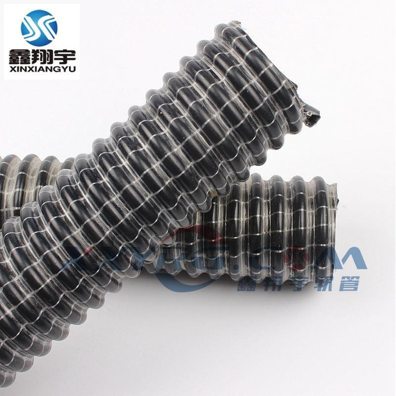 蛇纹吸尘管,耐负压吸尘管,蛇皮吸尘管,黑色带纤维线耐高压软管32