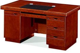 1406款1.4米油漆辦公桌 胡桃木皮綠色環保家具