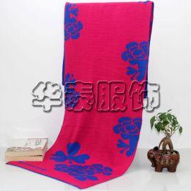 秋冬晴纶围巾,提花针织围巾,腈纶提花混纺围巾,毛线保暖围巾