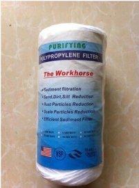 **5寸5微米线绕棉芯电镀专用过滤芯PP棉滤芯过滤器/净水器滤芯