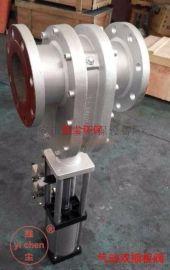 PZ644TC 气动陶瓷双插板阀,陶瓷出料阀