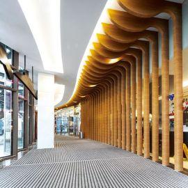 墙面装饰造型铝格栅 吊顶铝板 弧形铝方通