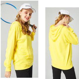 定做秋冬純色寬鬆加絨帽衫情侶裝春季衛衣來圖定制印刷LOGO圖案