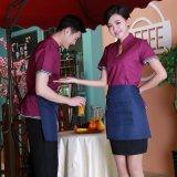春夏新款餐厅工作服装男女快餐服务员工装酒店咖啡店短袖制服