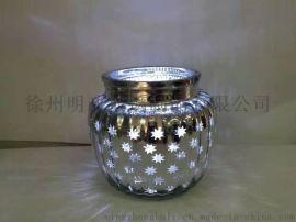 玻璃烛台生产厂家 蜡烛杯 圣诞节创意烛台