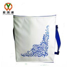 夹网PVC单肩冰包  防水野餐包 厂家定制
