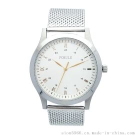 50米防水不锈钢男士手表日本进口石英机芯男士手表