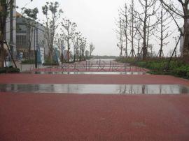 重点推广彩色透水地坪,誉臻透水混凝土材料施工