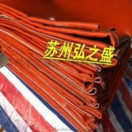 挡火星防火帘 红色硅胶布电焊垂帘