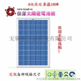 供应佳洁牌JJ180D180瓦多晶太阳能电池板