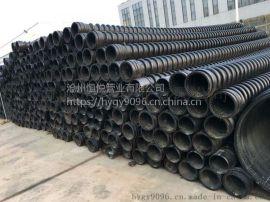 河北高密度聚乙烯HDPE缠绕结构壁B型管用途