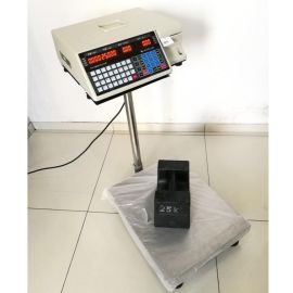 厂家直销 条码台秤 上海全扶TM-A打印不干胶标签的电子台秤