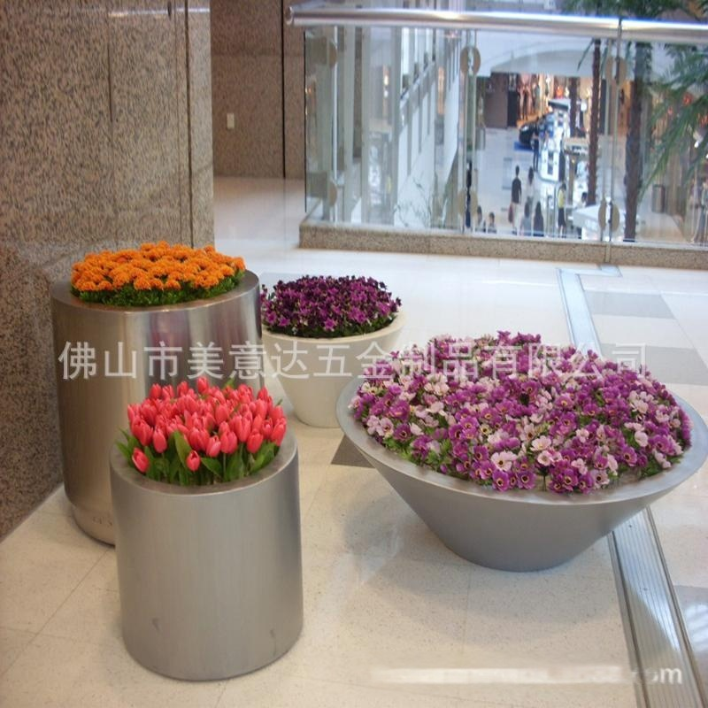 立体组合花盆 经久耐用 美观大方 厂专业定做户外不锈钢产品
