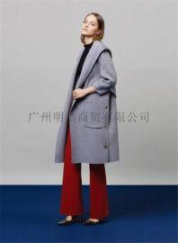 品牌折扣加盟店女装 原创设计师17年新款双面呢 厂家一手货源