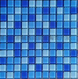 游泳池玻璃马赛克 泳池装饰材料 工程游泳玻璃马赛克