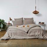 亚麻水洗四件套 床单 被罩 枕套