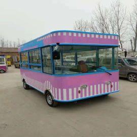 电动餐车电动小吃车烧烤车电动移动超市电动服装售货车